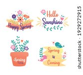 happy spring badge and label...   Shutterstock .eps vector #1929272915