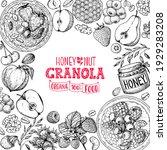 granola ingredients... | Shutterstock .eps vector #1929283208