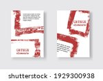 set of two grunge flyer...   Shutterstock .eps vector #1929300938