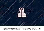 large white set of gifts framed ...   Shutterstock .eps vector #1929319175