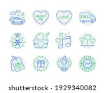 holidays icons set. included...   Shutterstock .eps vector #1929340082