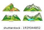 austria landmarks  natural... | Shutterstock .eps vector #1929344852