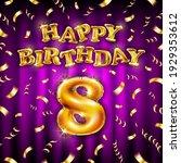 8 happy birthday message made...   Shutterstock .eps vector #1929353612