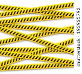 set of vector yellow tapes with ... | Shutterstock .eps vector #192935792
