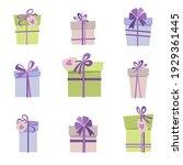 gift boxes set. vector...   Shutterstock .eps vector #1929361445