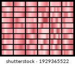 set of gold rose foil texture....   Shutterstock .eps vector #1929365522