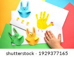 Easter Card With A Child's Palm ...