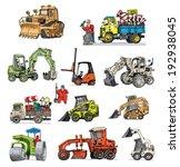 Road Machines Set   Cartoon
