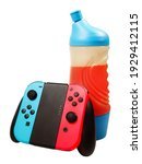 energy drink and controller... | Shutterstock . vector #1929412115