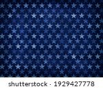White Transparent Stars On Blue ...