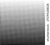 black halftone background with... | Shutterstock .eps vector #1929428828