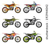 set of sport bikes with custom...
