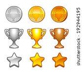set of sport awards and...   Shutterstock . vector #192944195
