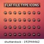 set of flie type flat icons...