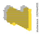 libya   yellow country... | Shutterstock .eps vector #1929464555
