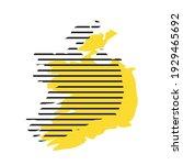 ireland   yellow country... | Shutterstock .eps vector #1929465692