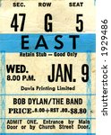 1970's Bob Dylan Concert Ticket ...