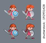 brave little knight  joan of... | Shutterstock .eps vector #192951428
