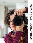 Woman Photographer Smilling ...