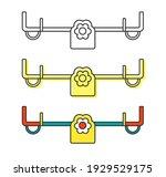 children's playing seesaw for...   Shutterstock .eps vector #1929529175