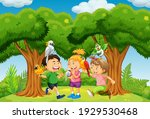group of children playing with...   Shutterstock .eps vector #1929530468