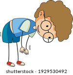 a boy cartoon character in...   Shutterstock .eps vector #1929530492