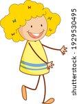 cute girl cartoon character in...   Shutterstock .eps vector #1929530495