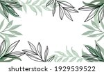 nature flowers and leaves... | Shutterstock .eps vector #1929539522