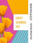 happy women's day greeting card.... | Shutterstock .eps vector #1929540308