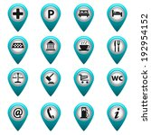 map pointer city icon   Shutterstock .eps vector #192954152