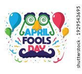 april fools day card with white ...   Shutterstock .eps vector #1929543695