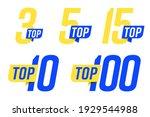 top banner set for chart leader ... | Shutterstock .eps vector #1929544988