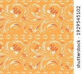 folk floral flowers. ethnic... | Shutterstock .eps vector #1929545102