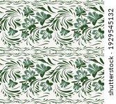 folk floral flowers. ethnic... | Shutterstock .eps vector #1929545132