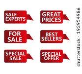 vector illustration sale tags | Shutterstock .eps vector #192954986