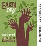 earth day retro design of...   Shutterstock .eps vector #1929557192