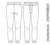 women basic sweat  lounge pants.... | Shutterstock .eps vector #1929558815