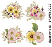 flowers set. collection of... | Shutterstock .eps vector #1929560222