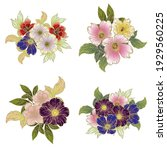 flowers set. collection of... | Shutterstock .eps vector #1929560225