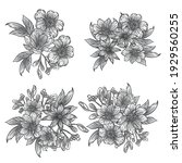 flowers set. collection of... | Shutterstock .eps vector #1929560255