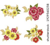 flowers set. collection of... | Shutterstock .eps vector #1929560258