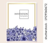 invitation greeting card with... | Shutterstock .eps vector #1929560672