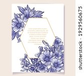 invitation greeting card with... | Shutterstock .eps vector #1929560675