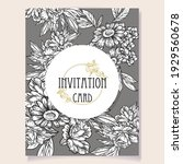 invitation greeting card with... | Shutterstock .eps vector #1929560678