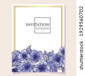 invitation greeting card with... | Shutterstock .eps vector #1929560702