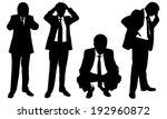 set of worried business men   Shutterstock .eps vector #192960872