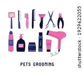 set of different hairdressing...   Shutterstock .eps vector #1929622055