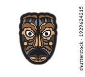 maori or samoan style mask.... | Shutterstock .eps vector #1929624215