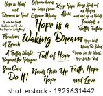 collection of hopeful and... | Shutterstock .eps vector #1929631442