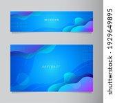 modern abstract blue fluid...   Shutterstock .eps vector #1929649895